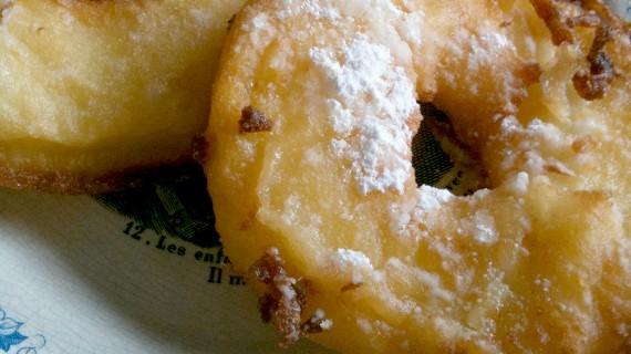 Des beignets aux pommes…