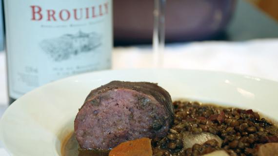Saucisson Lyonnais au Beaujolais de Jean-Paul Lacombe