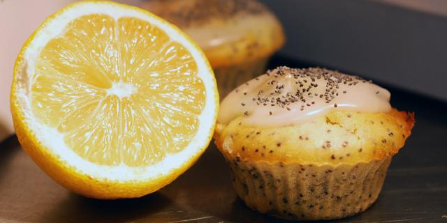 Muffins citron et graine de pavot d'après Bob