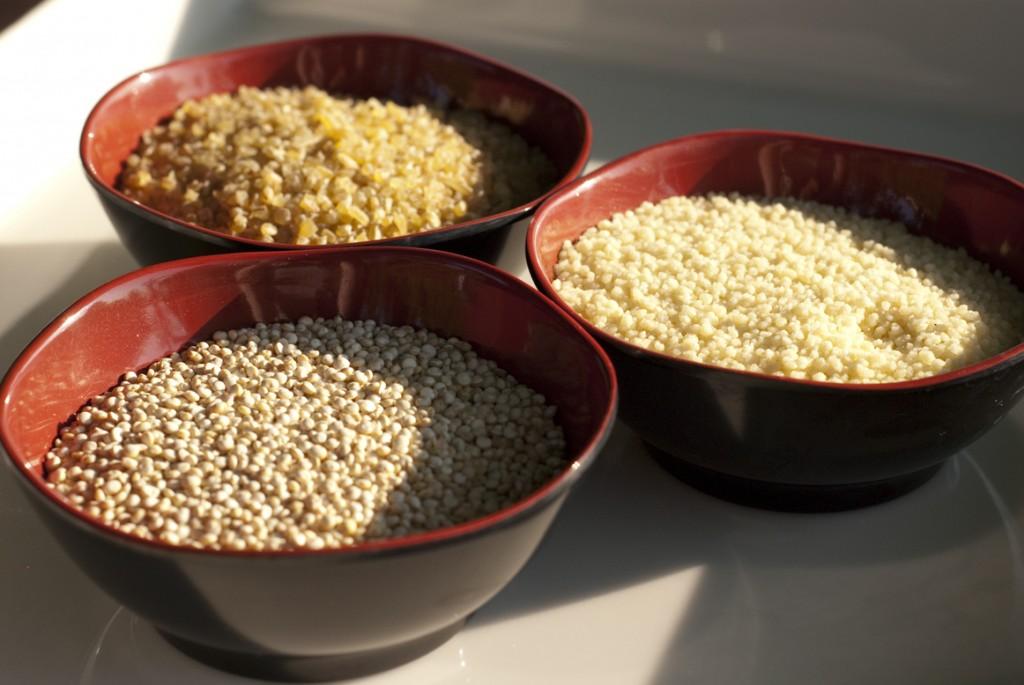 Salade d'été boulghour, quinoa et semoule