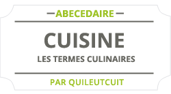 Les termes culinaire