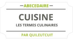 Les termes culinaire
