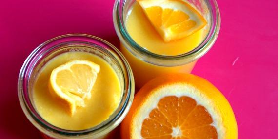 Des crèmes d'agrumes pour le dessert : citron et orange
