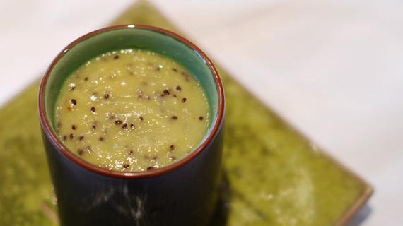 Pannacotta au kiwi agar-agar
