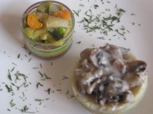 artichaud et champignons à la crème