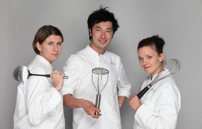 Les trois finalistes Top Chef 2011