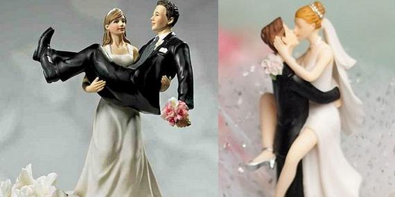 Moi, ce que j'aime dans les mariages, ce sont les petits mariés sur la pièce montée…