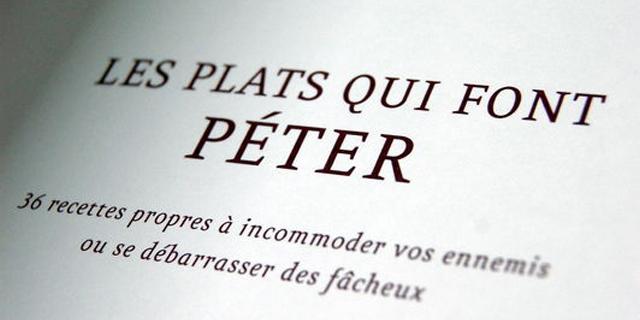 «Ces plats qui font péter» voilà un titre de livre qui interpelle ma curiosité !!!