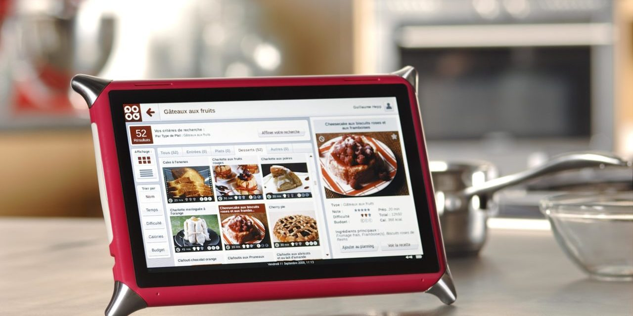 Cooq, la tablette tactile culinaire Made in France