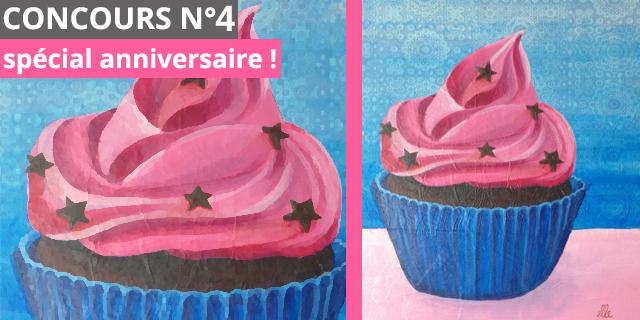 Concours spécial anniversaire : un tableau cupcake à gagner